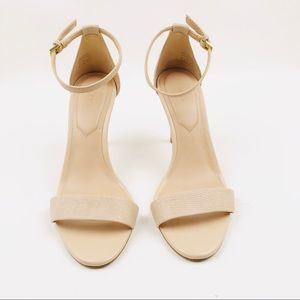 Aldo Nude Ankle Strap Buckle Sandal Heels